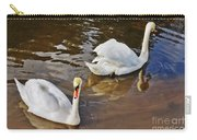 Two Swans On Spring Water Carry-all Pouch