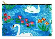 Two Swans Carry-all Pouch by Sushila Burgess