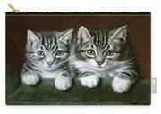 Two Tabby Kittens  Carry-all Pouch