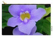 Two Thunbergia With Dew Drops Carry-all Pouch