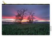 Two Trees In A Purple Sunset Carry-all Pouch
