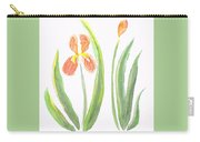 Two Iris II Watercolor Carry-all Pouch