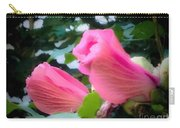 Two Unopen Pink Hibiscus Flowers Carry-all Pouch