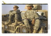 Two U.s. Army Soldiers Relax Prior Carry-all Pouch