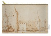 Two Views Of Egmond Castle Carry-all Pouch