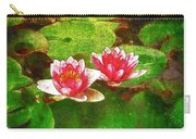 Two Waterlily Flower Carry-all Pouch