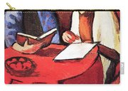 Two Women At The Table By August Macke Carry-all Pouch