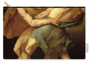 Two Wrestlers Carry-all Pouch by Cesare Francazano