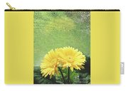 Two Yellow Gerber Daisies Carry-all Pouch
