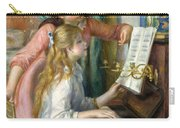 Two Young Girls At The Piano, 1892  Carry-all Pouch
