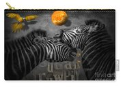 Two Zebras And Macaw Carry-all Pouch
