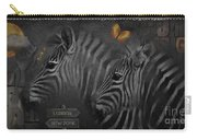 Two Zebras Carry-all Pouch