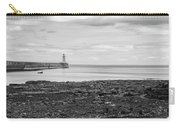 Tynemouth Pier Landscape In Monochrome Carry-all Pouch