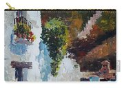 Typical Street Of Granada. Original Acrylic On Paper Carry-all Pouch