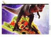Tyrannosaurus Rex Dinosaur Riding Taco In Space Carry-all Pouch