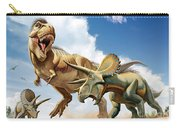 Tyrannosaurus Rex Fighting With Two Carry-all Pouch by Mohamad Haghani