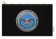 U. S. Department Of Defense - D O D Emblem Over Black Velvet Carry-all Pouch