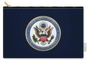 U. S. Department Of State - D O S Emblem Over Blue Velvet Carry-all Pouch