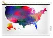 U S Map Color  Carry-all Pouch