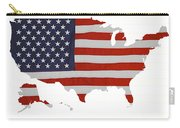 U S Map Stars N Stripes  Carry-all Pouch