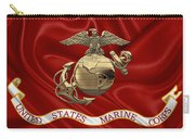 U. S.  Marine Corps - N C O Eagle Globe And Anchor Over Corps Flag Carry-all Pouch
