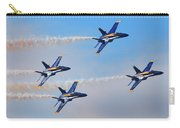 U S Navy Blue Angeles, Formation Flying, Smoke On Carry-all Pouch