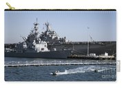 U S S Sampson And U S S Essex In San Diego Carry-all Pouch