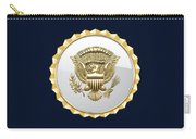 Vice Presidential Service Badge On Blue Velvet Carry-all Pouch