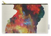 Uganda Watercolor Map Carry-all Pouch