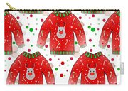 Ugly Christmas Sweater Pattern Carry-all Pouch