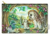 Ugly Duckling - Dragon Baby And Owls Carry-all Pouch