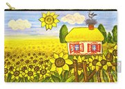 Ukrainian House With Sunflowers Carry-all Pouch
