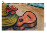 Ukulele And Hibiscus Flower On  A Hawaii Beach Carry-all Pouch