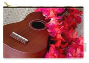 Ukulele And Red Flower Lei Carry-all Pouch