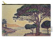 Umbrella Pines At Caroubiers Carry-all Pouch by Paul Signac