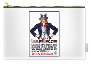 Uncle Sam -- I Am Telling You Carry-all Pouch