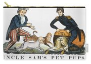 Uncle Sam: Cartoon, 1840 Carry-all Pouch