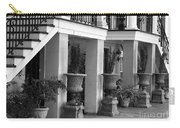 Under The Steps In Savannah - Black And White Carry-all Pouch