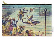 Underwater Race, 1900s French Postcard Carry-all Pouch