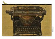 Underwood Typewriter On Text Carry-all Pouch