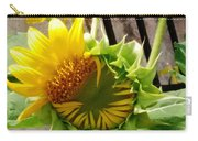 Unfolding Sunflower Carry-all Pouch