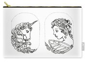 Unicorn And Fairy Cameo Set Carry-all Pouch