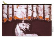 Unicorn Below Trees In Autumn Carry-all Pouch by Carol  Law Conklin