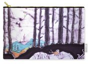 Unicorn Rests In The Forest With Fox And Bird Carry-all Pouch