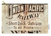 Union Pacific Railroad - Gateway To The West  1883 Carry-all Pouch
