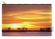 Union Reservoir Sunrise Feb 17 2011 Canvas Print Carry-all Pouch