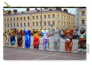 United Buddy Bear Statues At Helsinkis Senate Square Carry-all Pouch