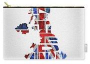 United Kingdom Typographic Kingdom Carry-all Pouch