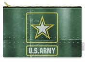 United States Army Logo On Green Steel Tank Carry-all Pouch
