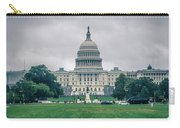 United States Capitol Building On A Foggy Day Carry-all Pouch